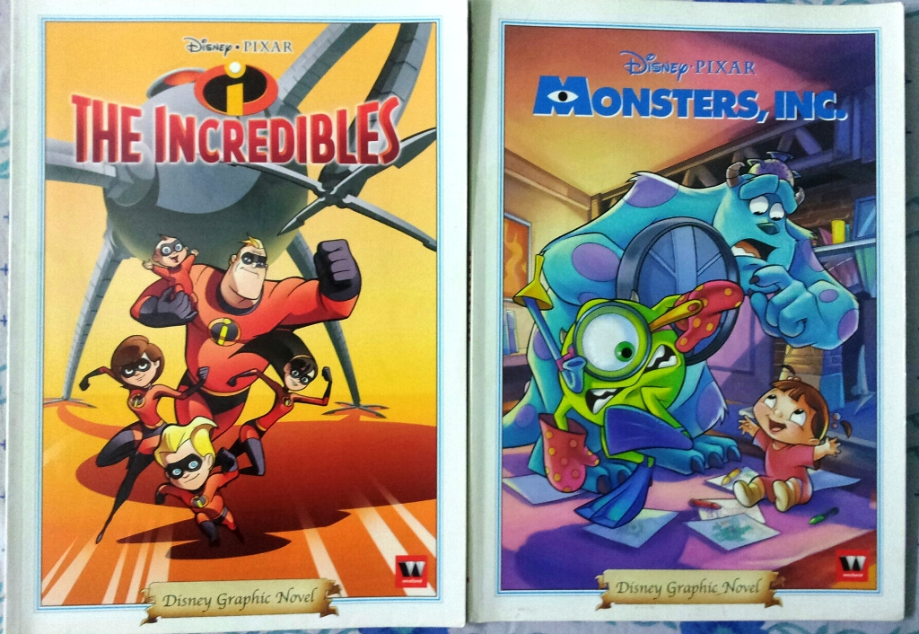 Does Disney Pixar Graphic Novels Match Up To Their Movies Monsters Inc And The Incredibles Sauvik Biswas