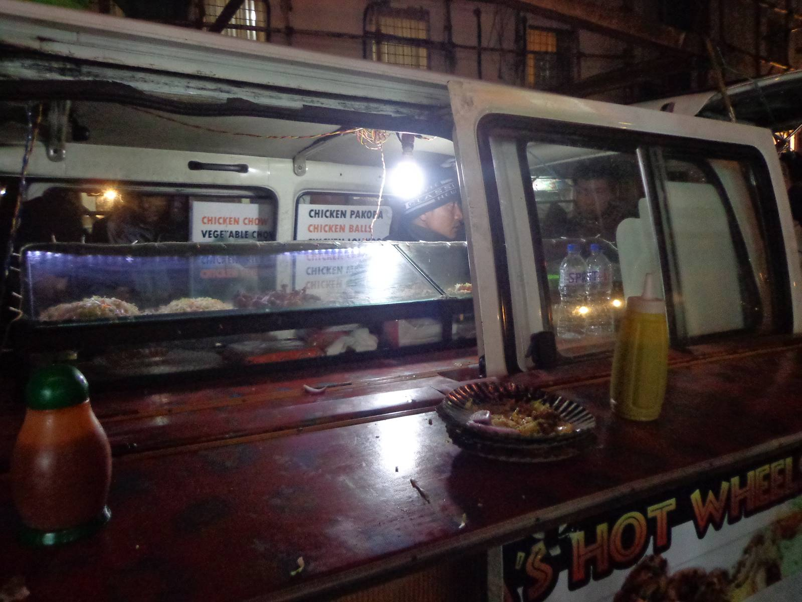 A mobile street food van in Police Bazaar.
