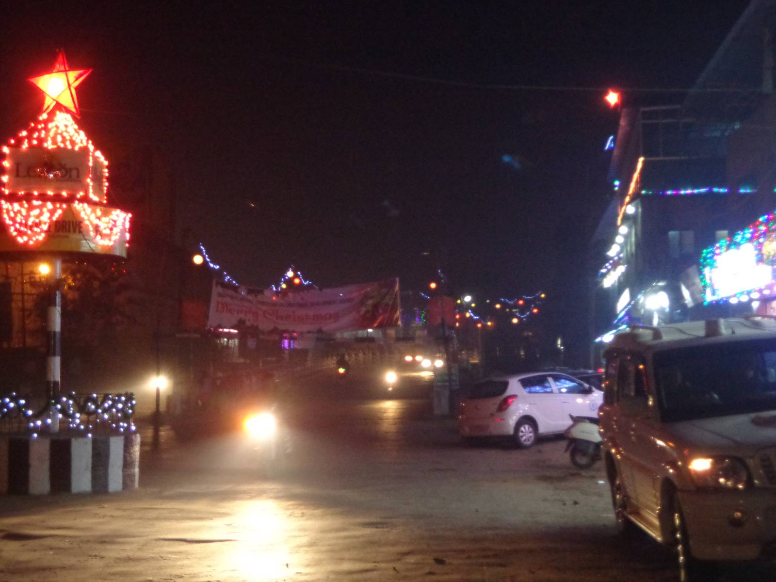 Dimapur has geared up for Christmas. Al the buildings have been decorated with  colourful LED bulbs.