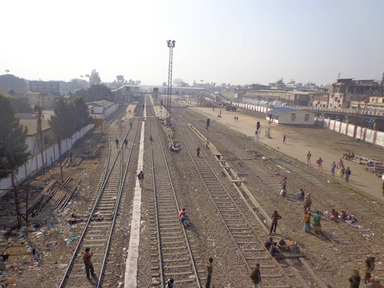 Dimapur railway station from flyover.