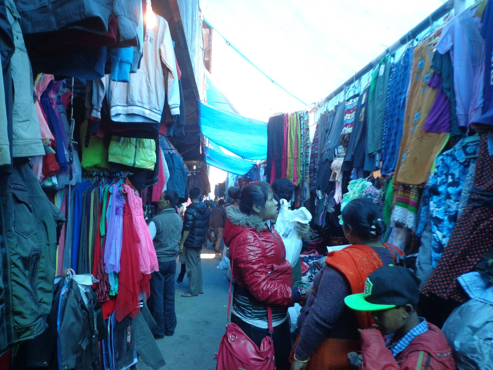 A busy and narrow alley at Hong Kong market, Dimapur.