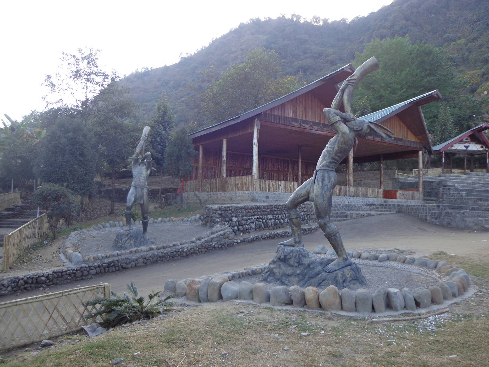 The entrance to the open air theater that hosts most of the tribal performances.