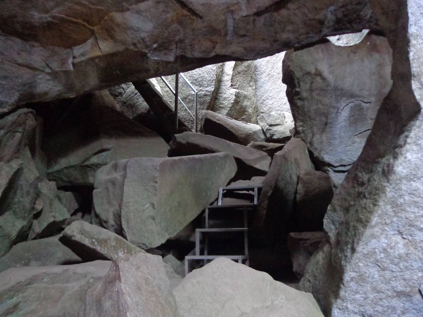 Edakkal caves consists of two cavities. This one is at a lower altitude.
