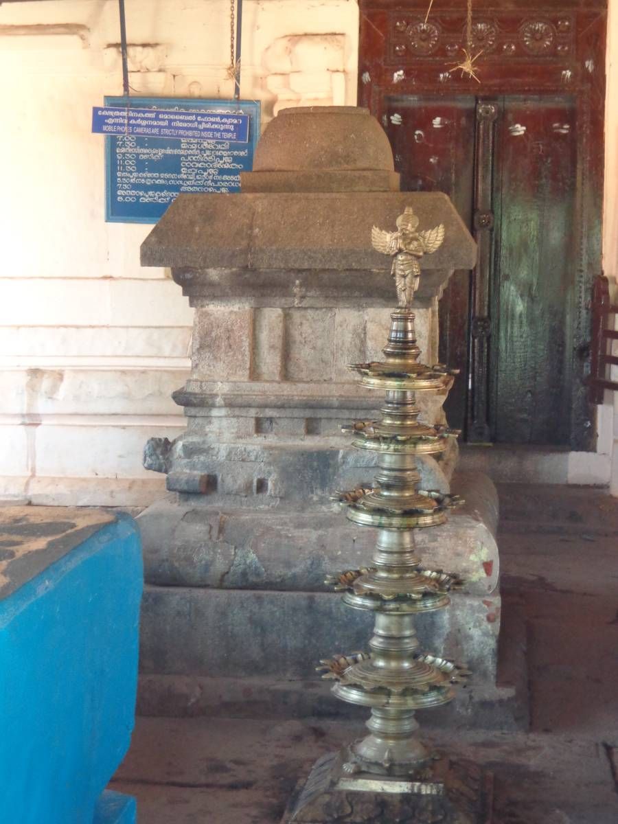 The lamps in Thirunelly temple are lit everyday.