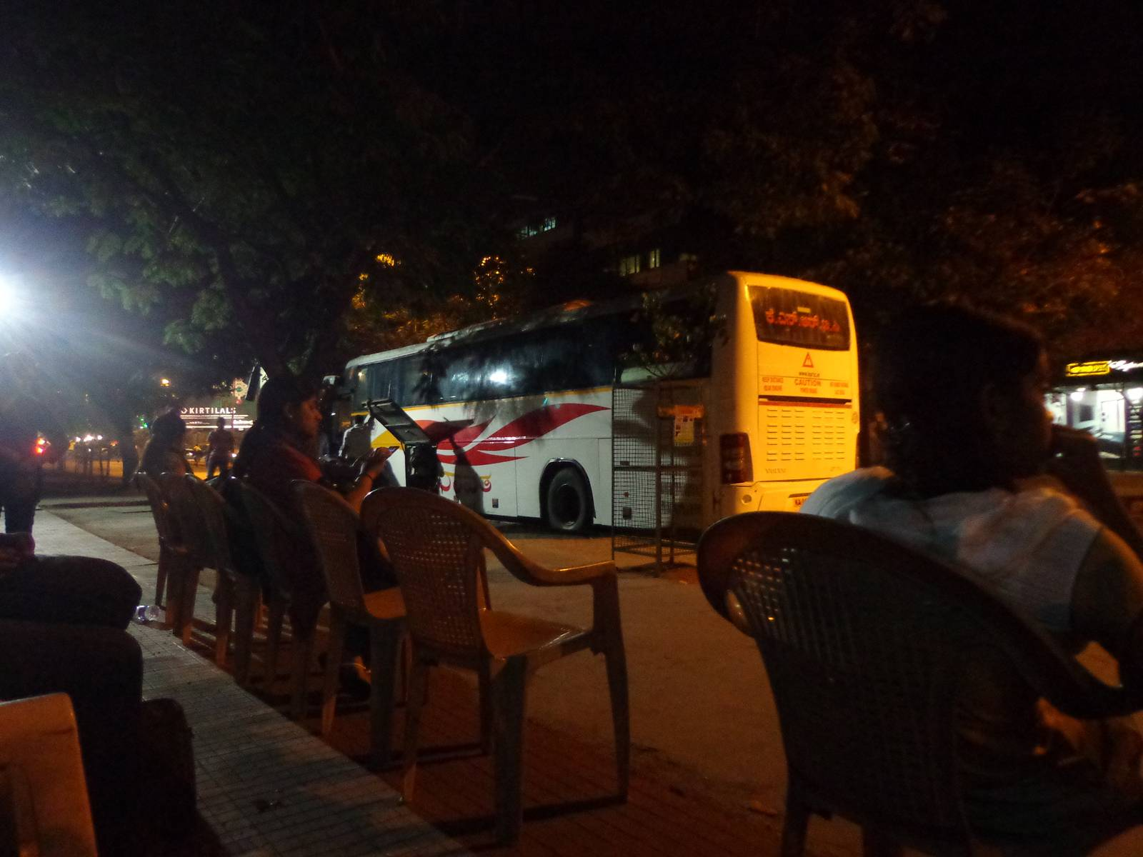 The Airavat buses leave from the main road in front of a non existent Big Bazaar.