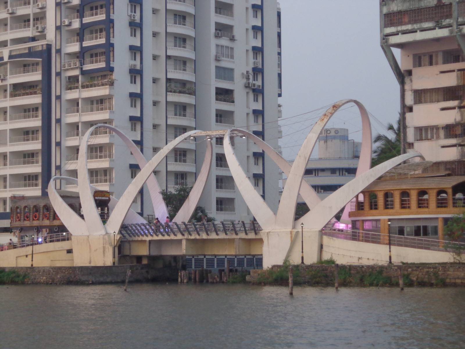 The houseboat pool - a prominent structure at Marine Drive