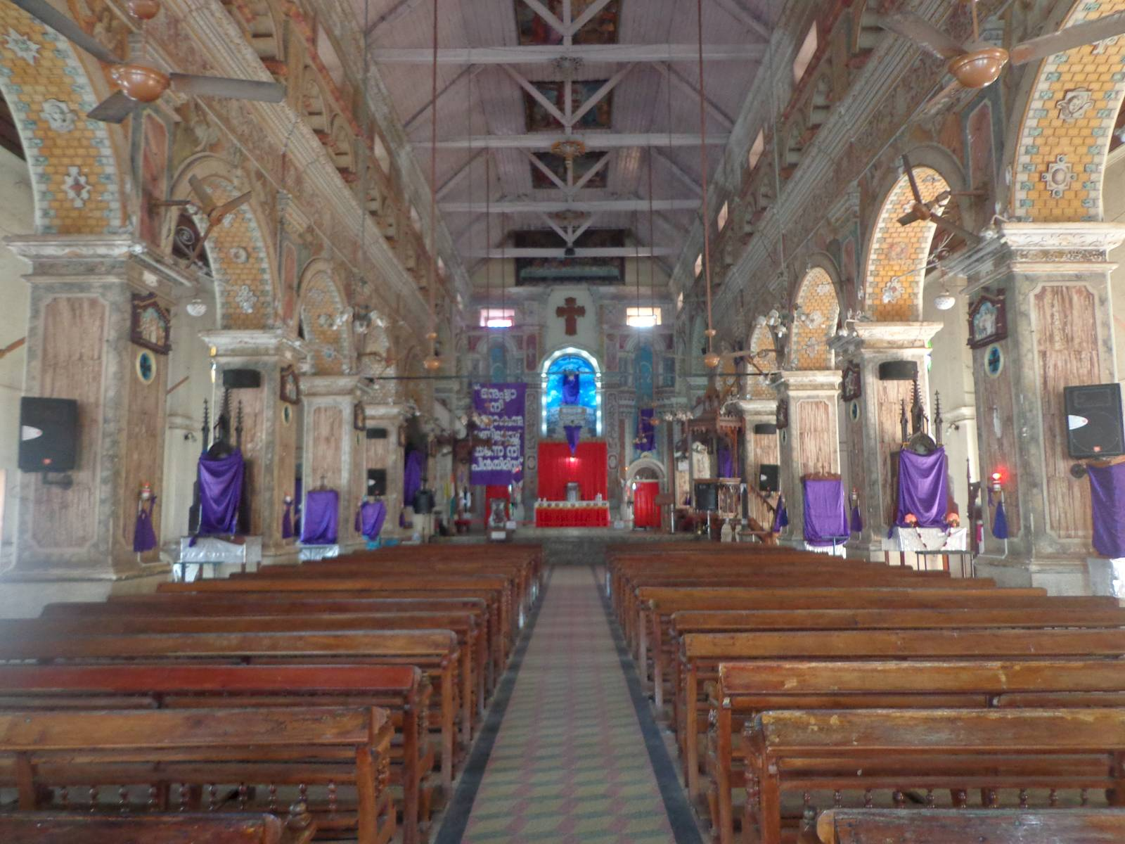 The inside of the basilica.