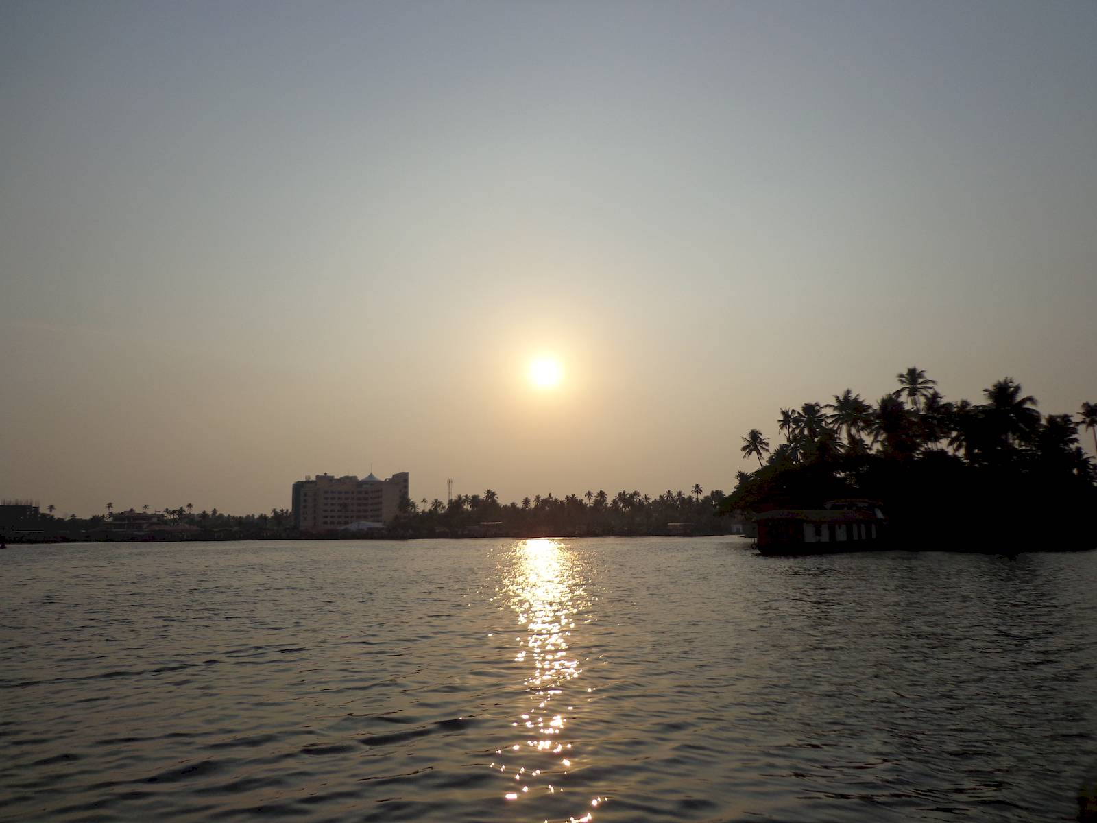Sunset at the backwaters.