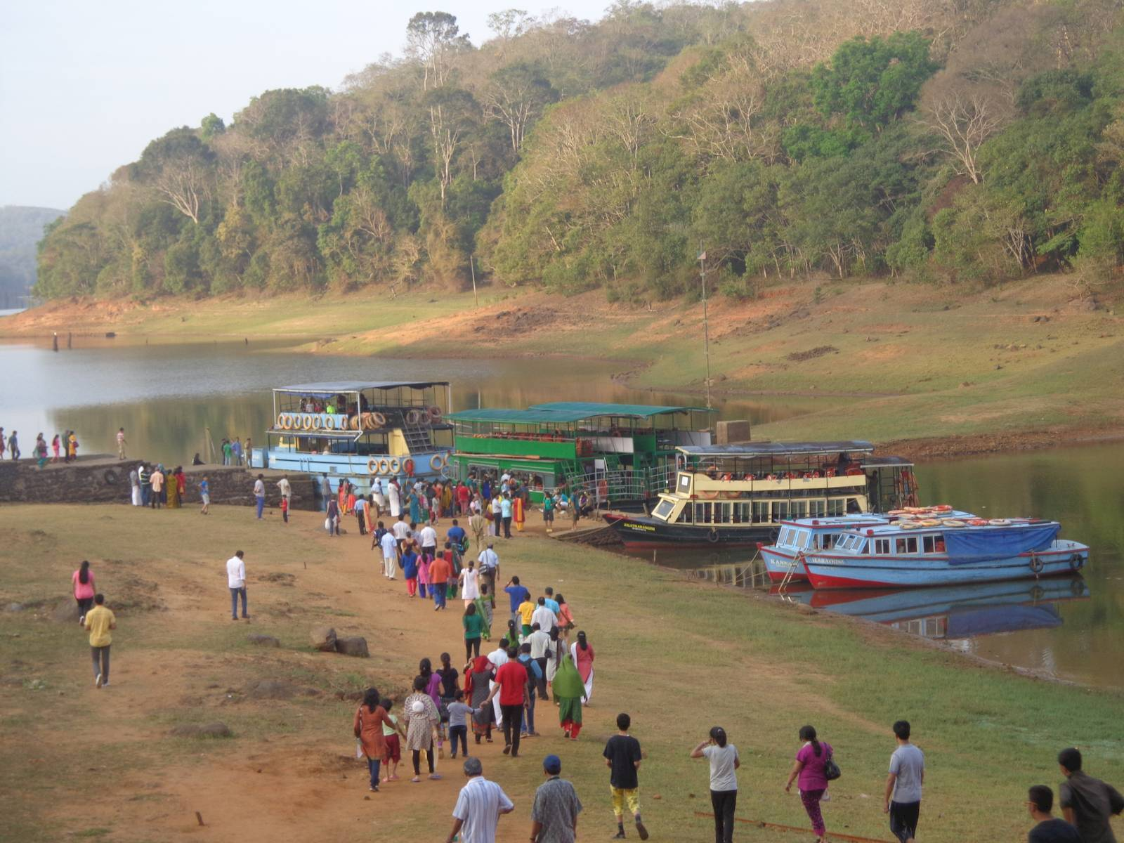 Boats at the Periyar Lake