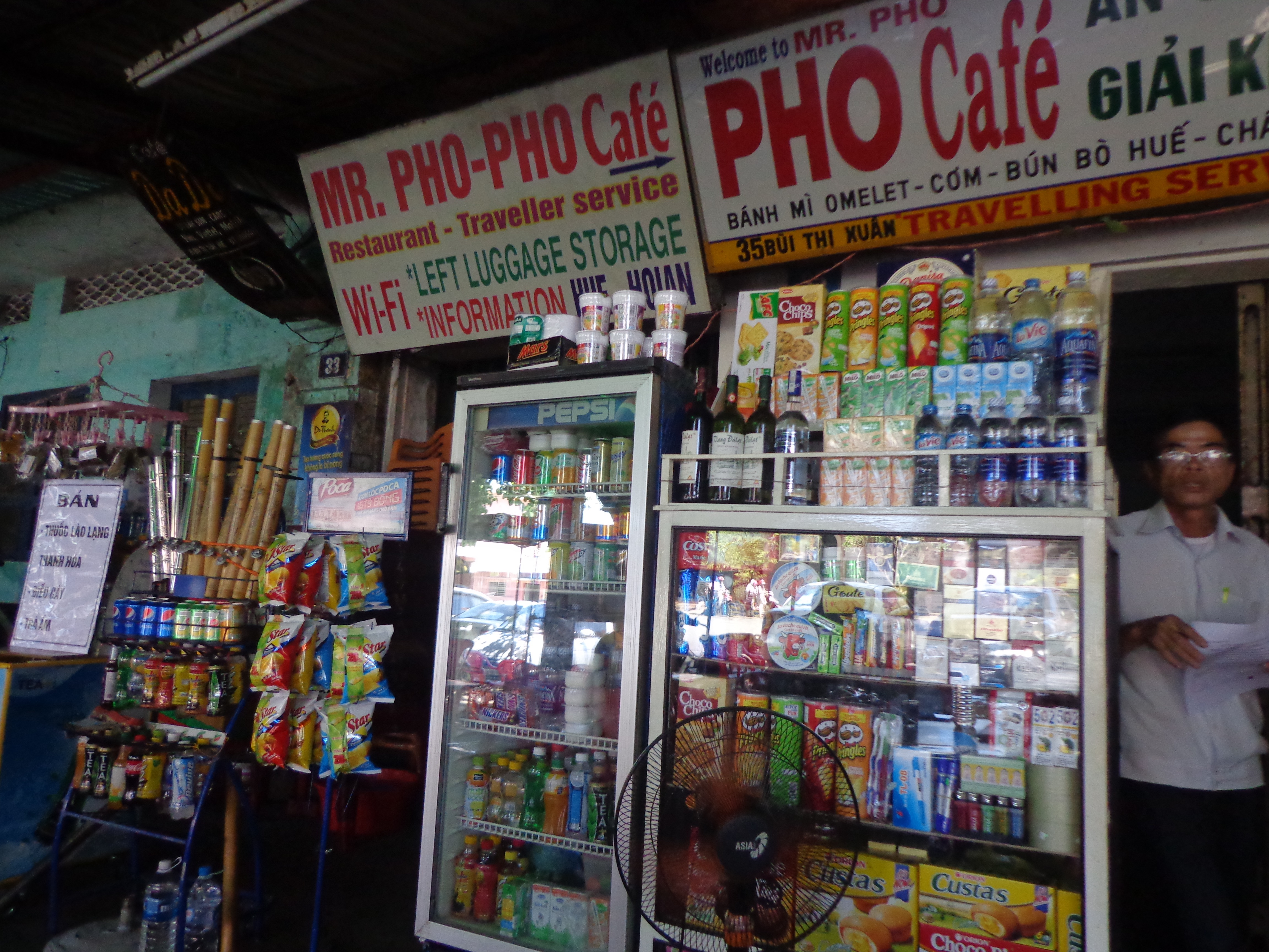 Mr. Pho - Pho cafe is located just opposite to train station.