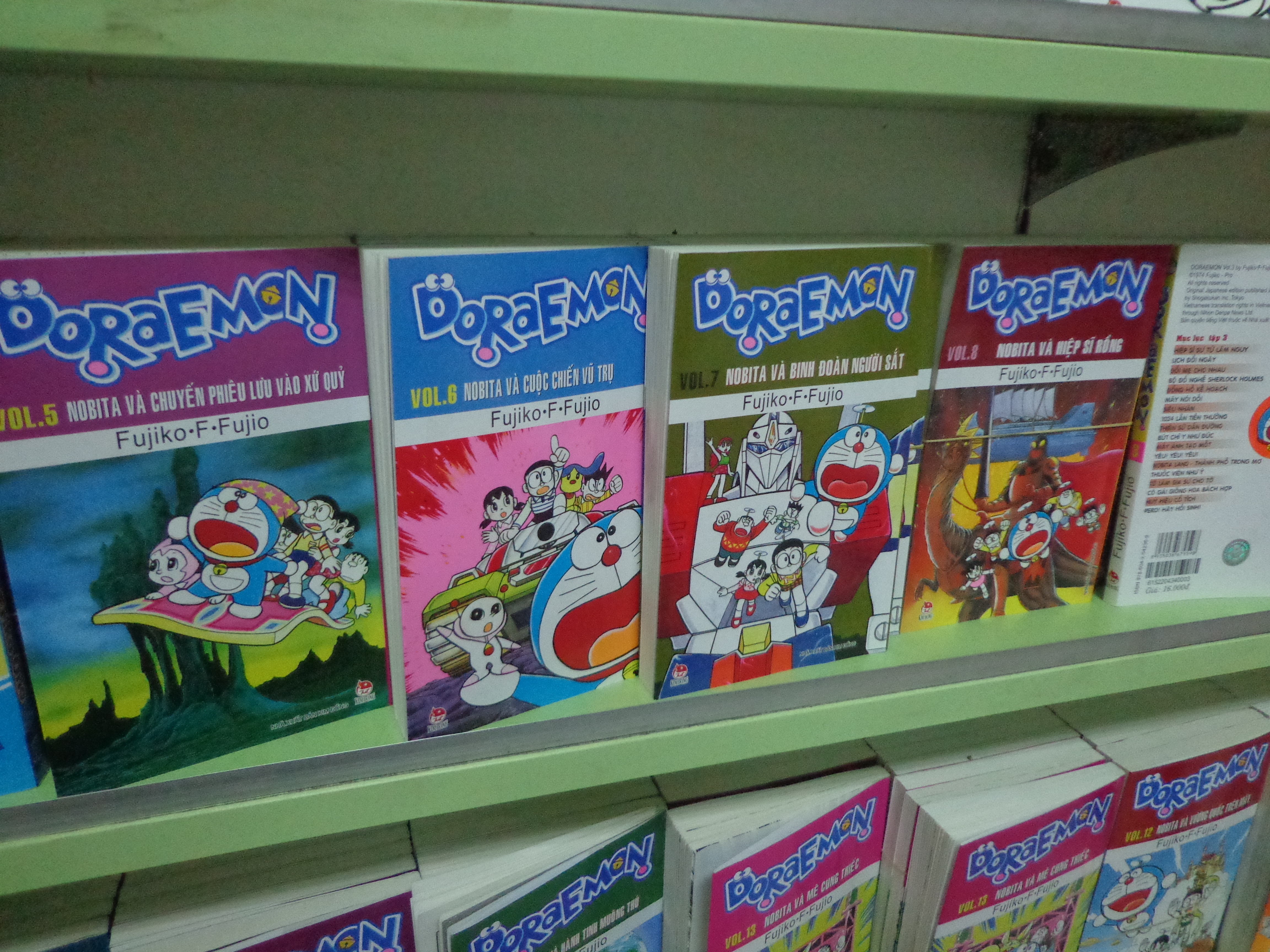 Doraemon - It's as famous in Vietnam as in Japan and in India! I am surprised that no Hindi publisher has taken pains to translate Doraemon mangas into Hindi.