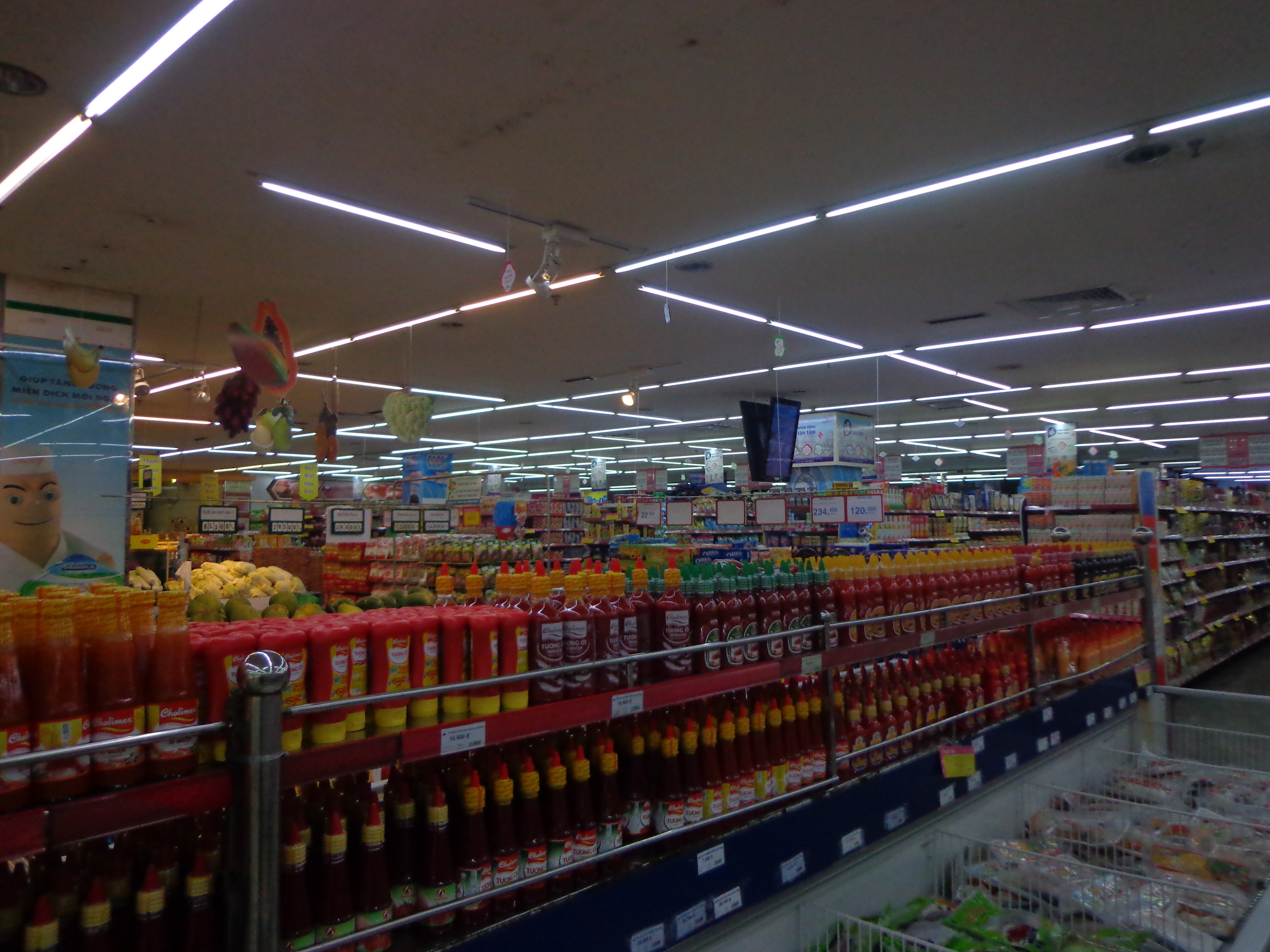 The co-operative supermarket in Hue isn't much different from those in Bangalore.