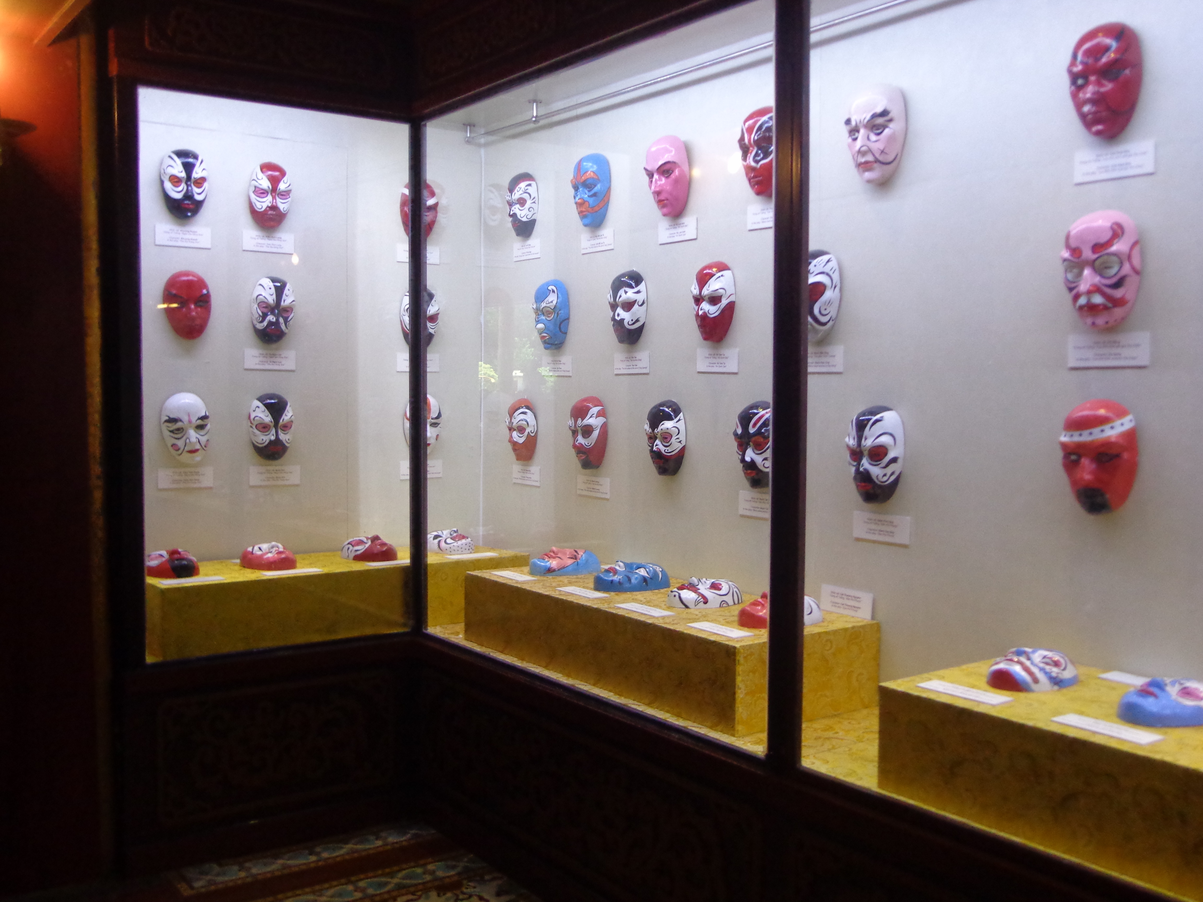 Masks used by the royal theatre to depict various characters of a play.