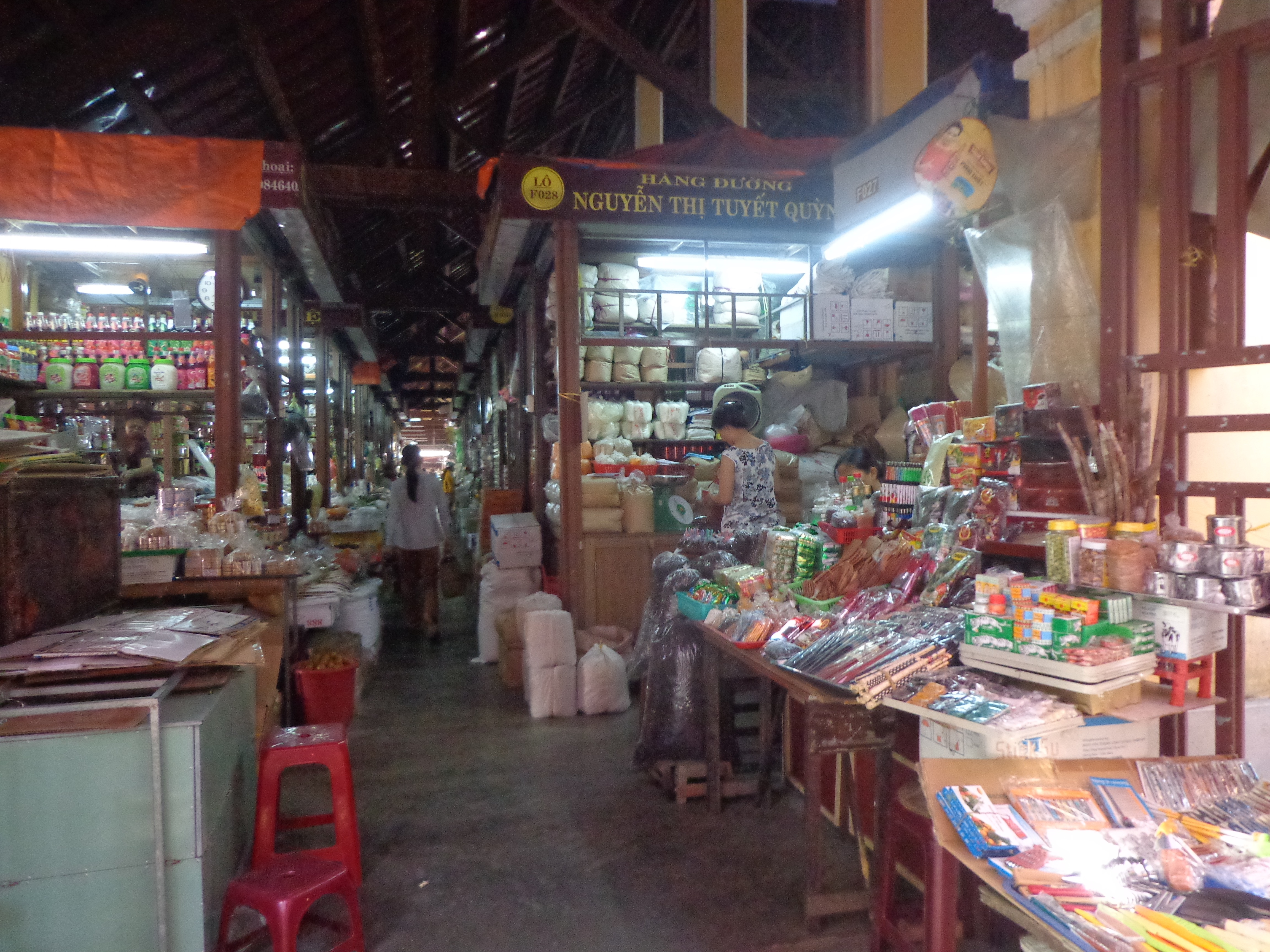 The front section of Hoi An central market sells grocery. It looks much like New Market in Kolkata.
