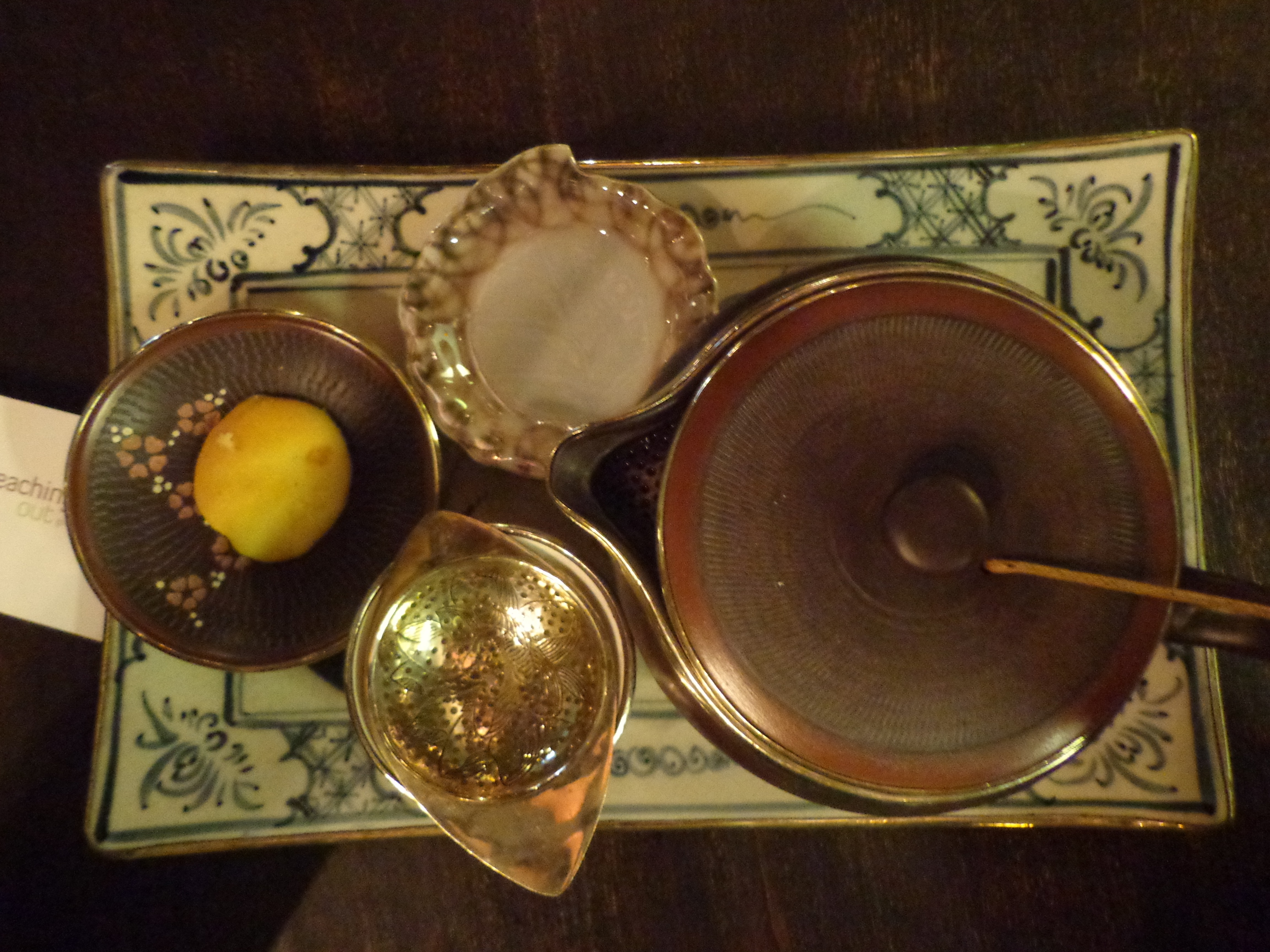Jasmine tea served in a traditional tea set.