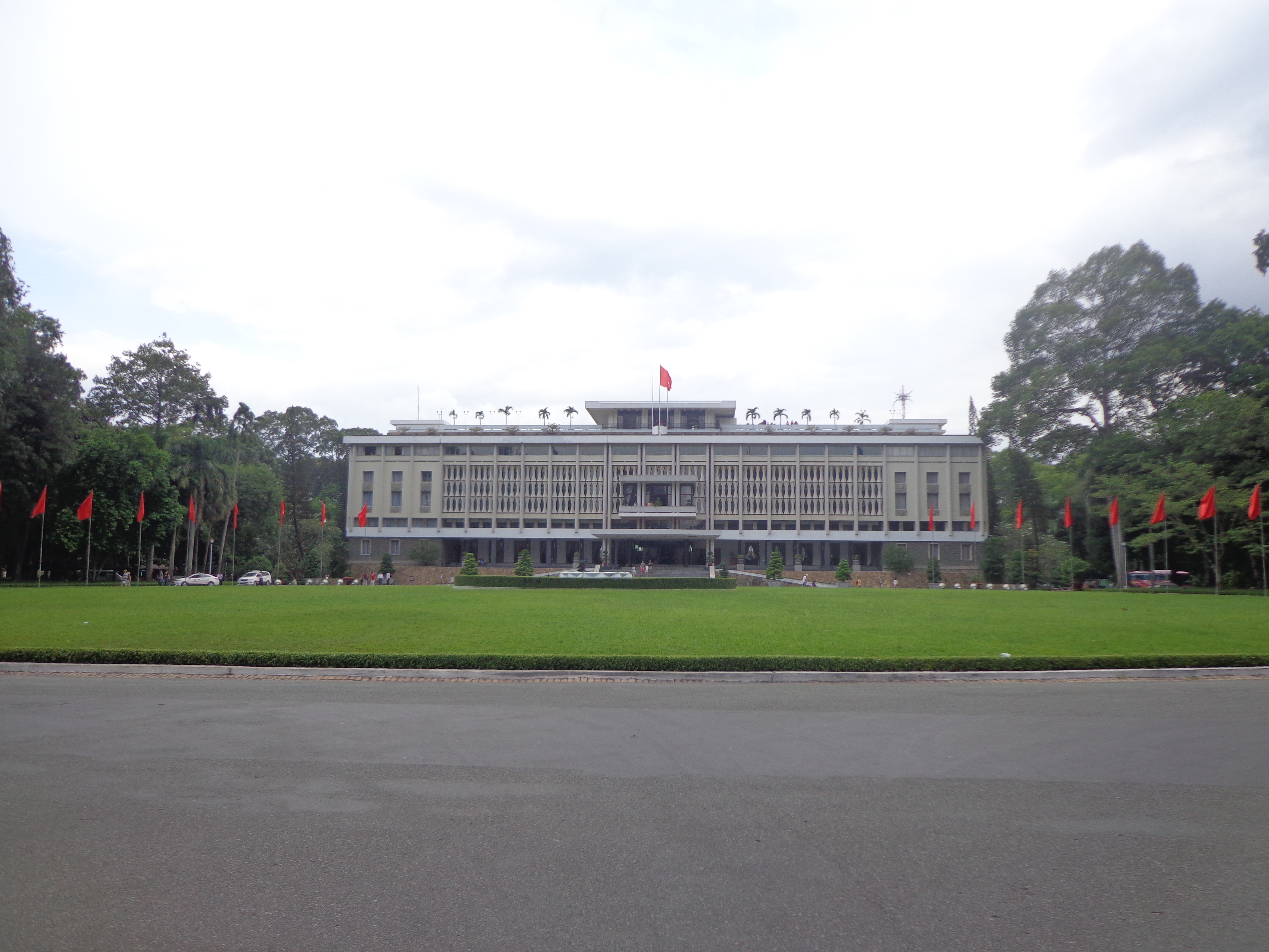 The independence palace. I shot this just before the guard asked us to vacate the region near the exit gate.