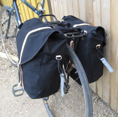 Panniers on a bike. Image from: bicycle-touring-guide.com