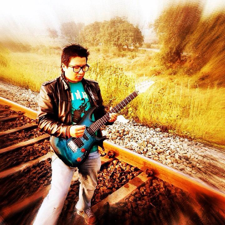 This is Ugyal during the video shoot three years ago. That railway line is close to the Sarjapur railway junction.