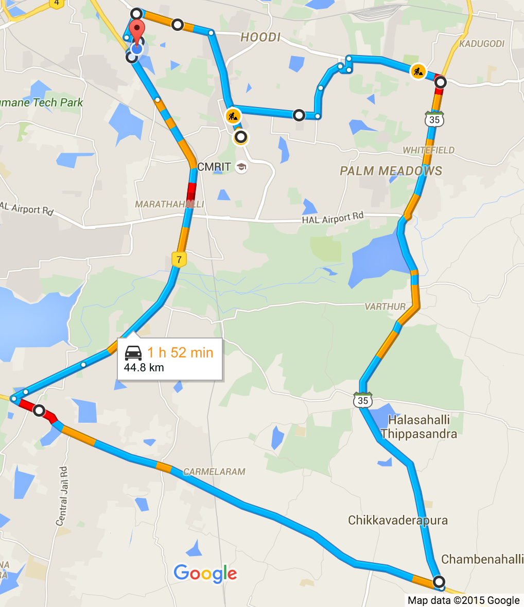 Route on Google Maps