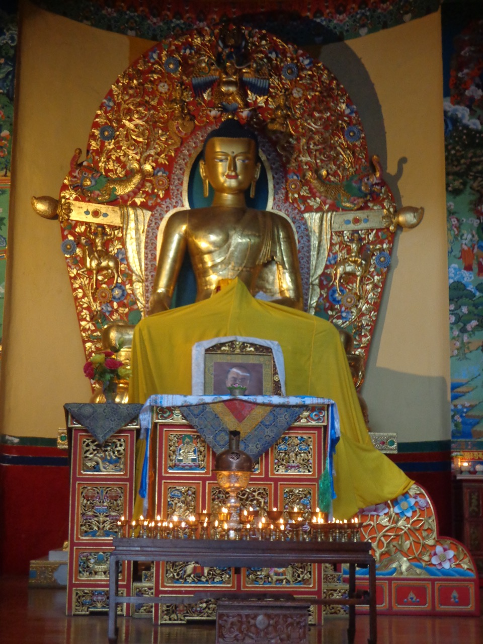 "The Buddha statue at the ""Seat of Happiness"" temple."
