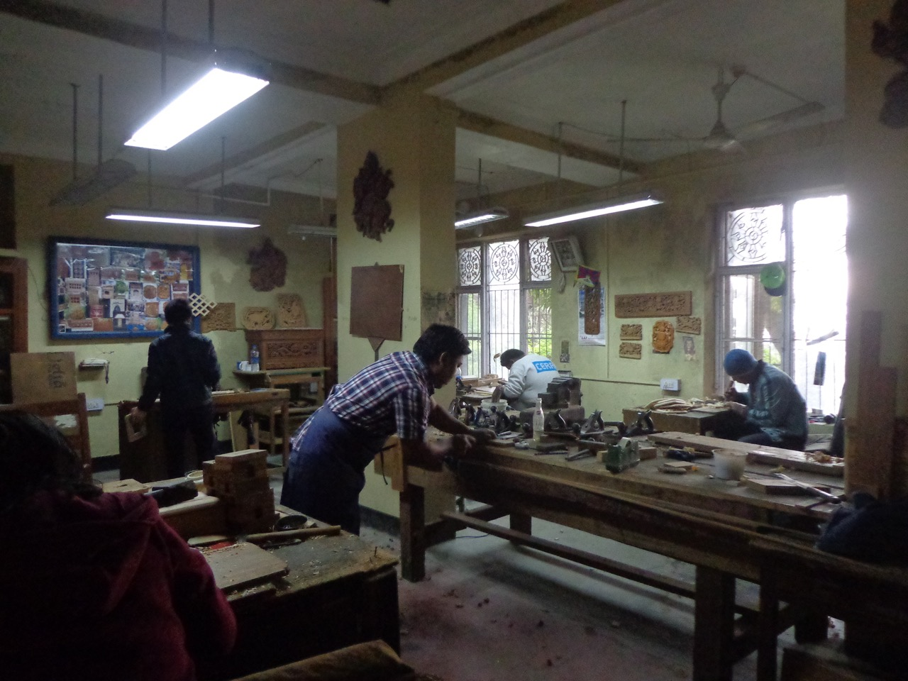 The wood craft school inside the institute.
