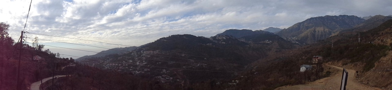 A panorama of the entire McLeod Ganj area.