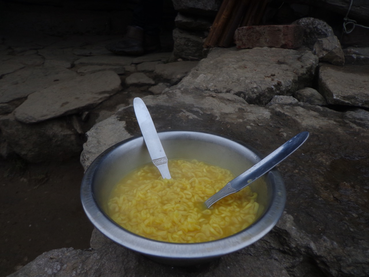 An expensive bowl of Top Ramen. It was godsend after the trek.