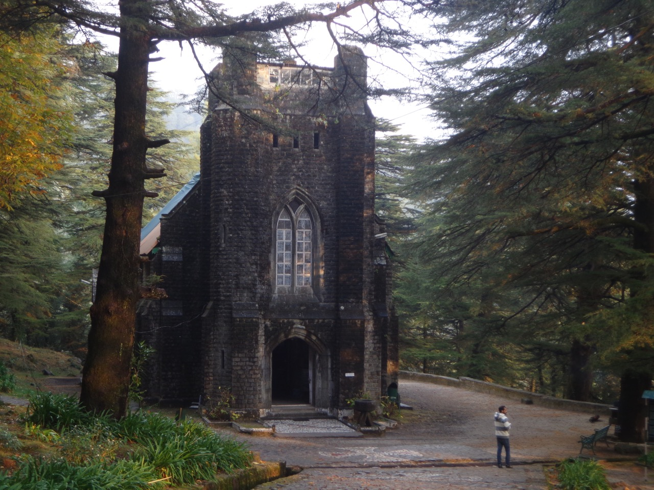 The Church is the only structure in Dharamshala that survived the 1905 Kangra earthquake. Parts of it have been rebuilt, including the spire and the roof.