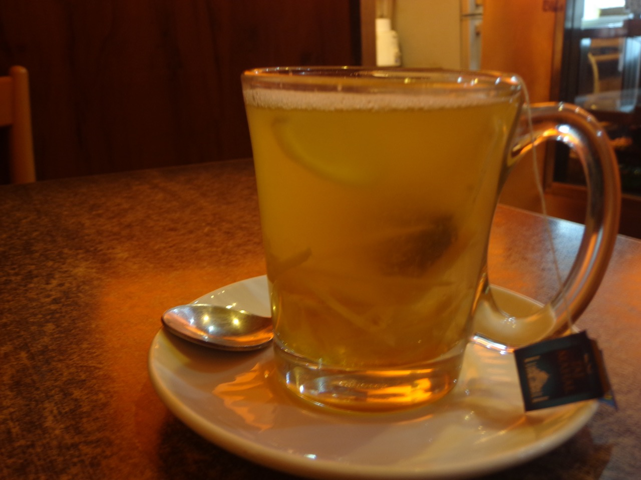 This is Ginger, Lemon and Honey Tea. I lost count of the number of cups / glasses I had throughout the day.