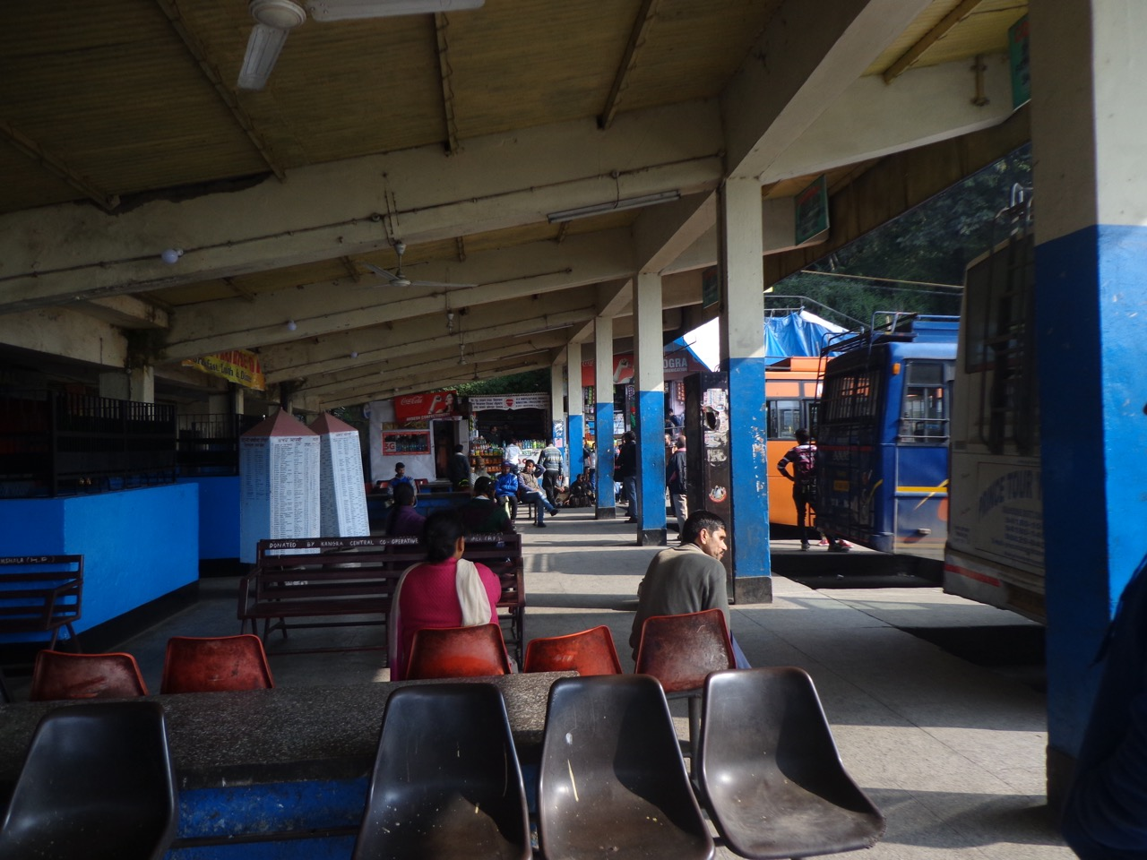 I had my lunch in a small shop at Dharamshala bus stop.