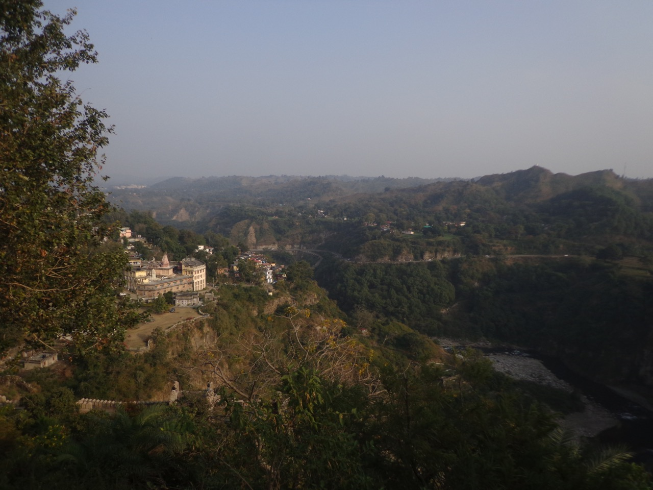 Kangra Valley and NH 503 visible from the top of the fort.