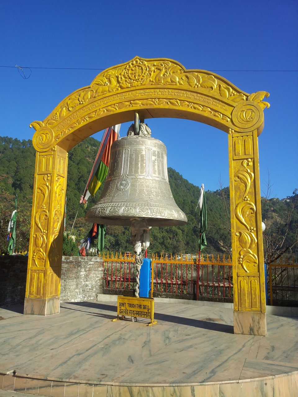 The bell of peace at Nyingmapa Monastery.