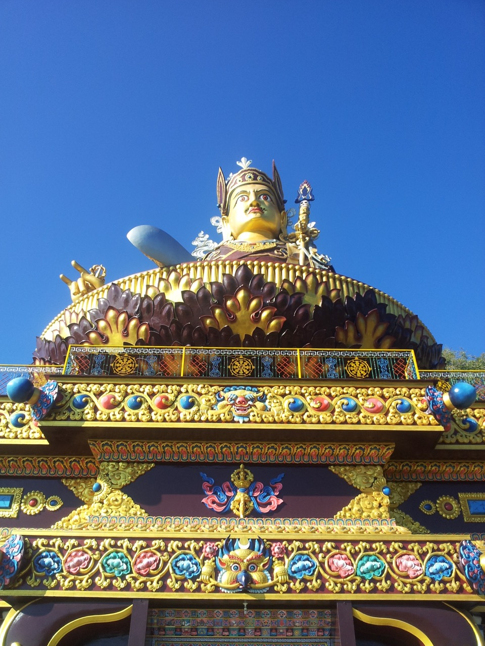 The idol of Padmasambhava from the base of the monastery.