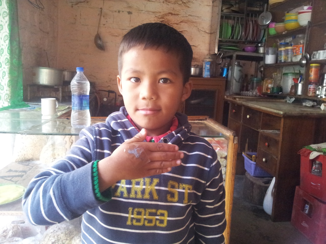Master Tshering was running around. He had four days of holiday and he was enjoying every bit of it.