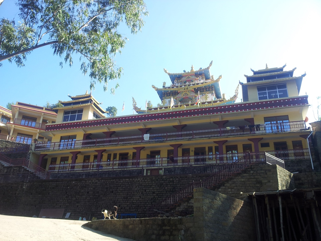 Zangdok Palri or the Lotus Light temple of Padmasambhava is located diametrically opposite to the huge idol. Every place, including the three levels of the palace itself is open to the general public.