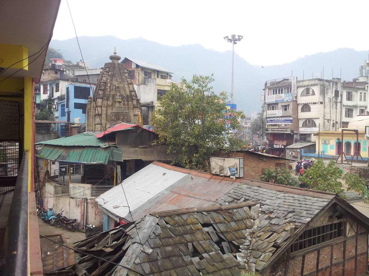 This Shiva temple, photographed from the corridor of my hotel, is maintained by ASI.