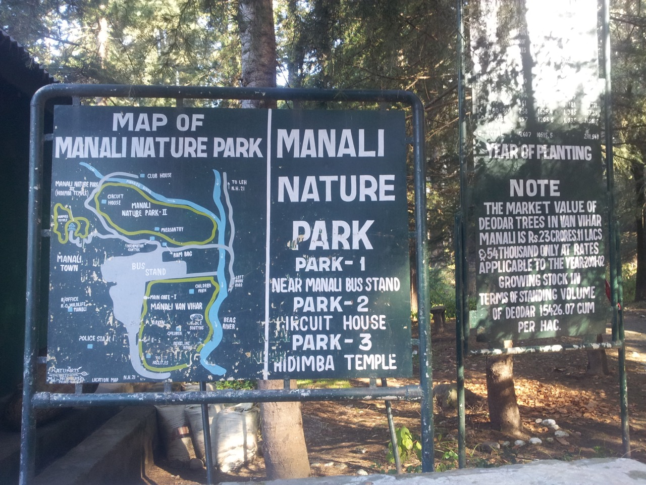 I got to know that I had walked beside zone 2 and went through zone 3 of the Manali forest land to reach Hidimba temple yesterday.