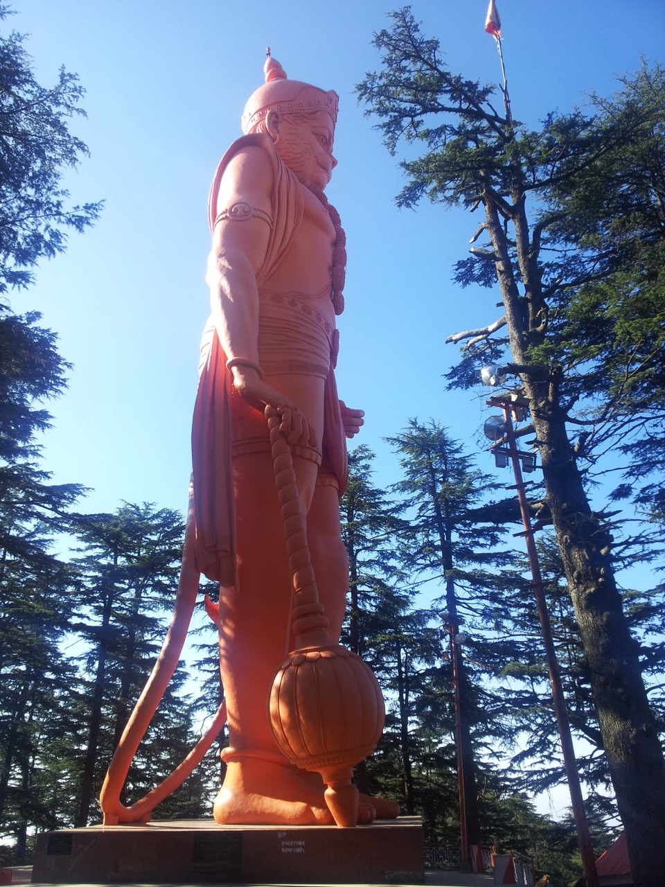 This is the huge Hanuman idol that is visible from afar. For comparisons, the base would be at my shoulder height.