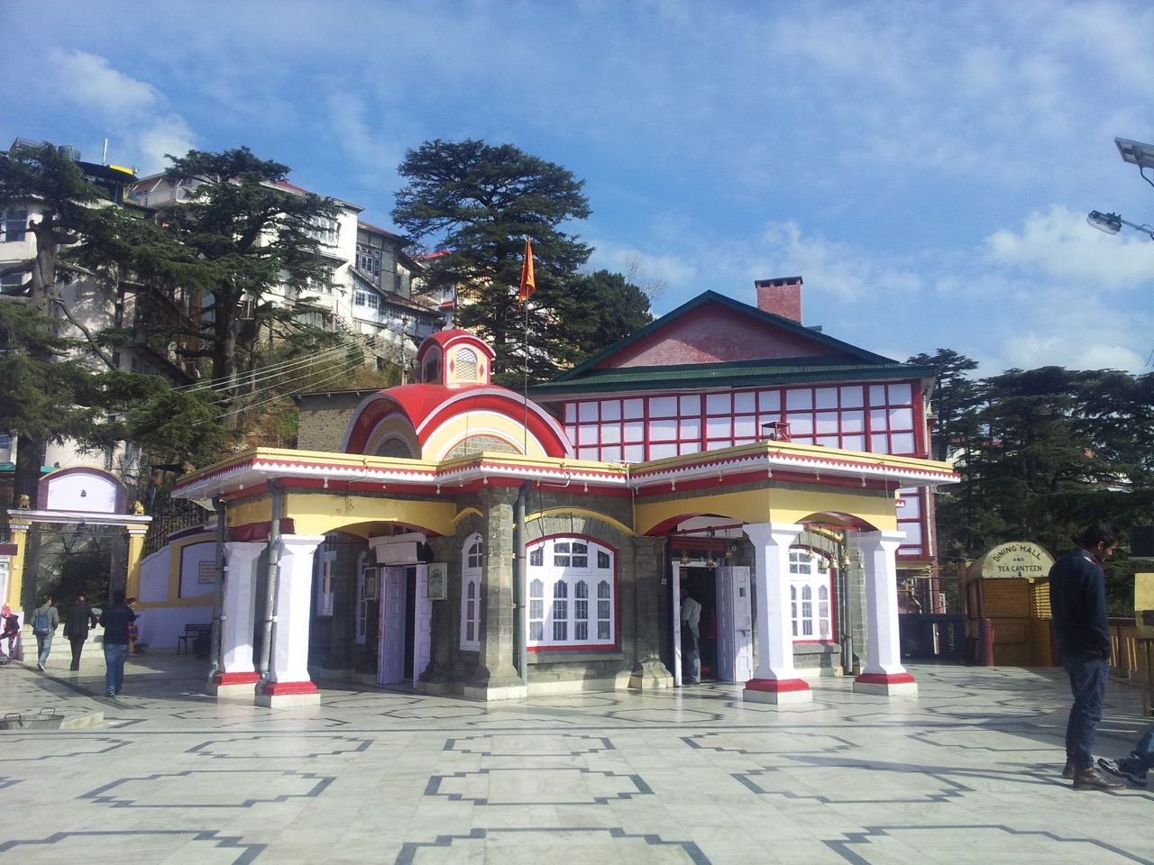 Kali Bari of Shimla. It is forbidden to take photographs inside the temple itself.