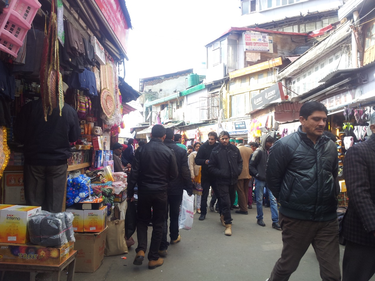 The lower market of Shimla. You'll find anything and everything for normal usage here.