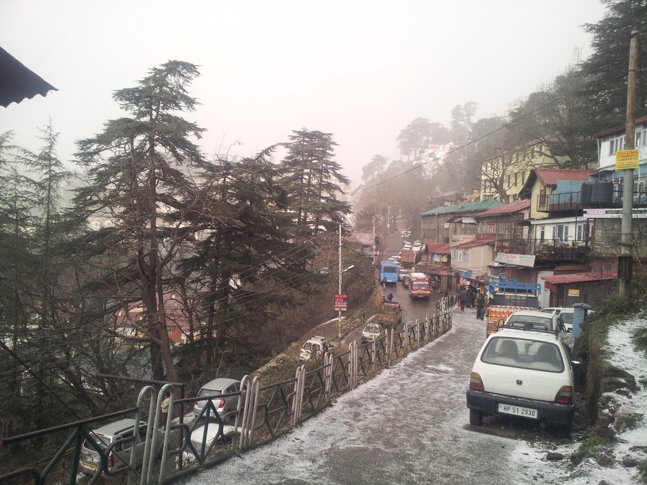 Lakkar Bazaar / Rivoli side (North) experienced heavier showers.
