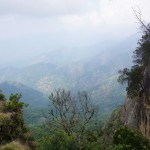 Kodai valley was visible from the elevated view point inside the Gunaa caves compound.