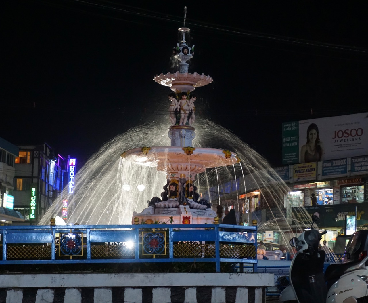 The fountain at Charring Cross.