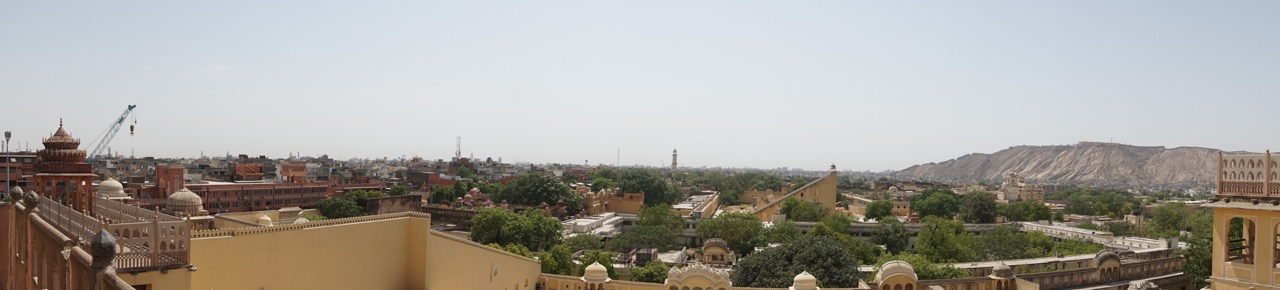 The view of Jaipur from the top of Hawa Mahal.