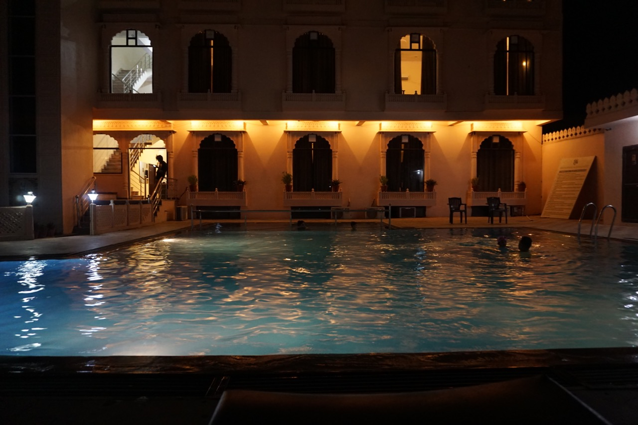 Nothing beats Rajasthan heat like a an extended pool session.