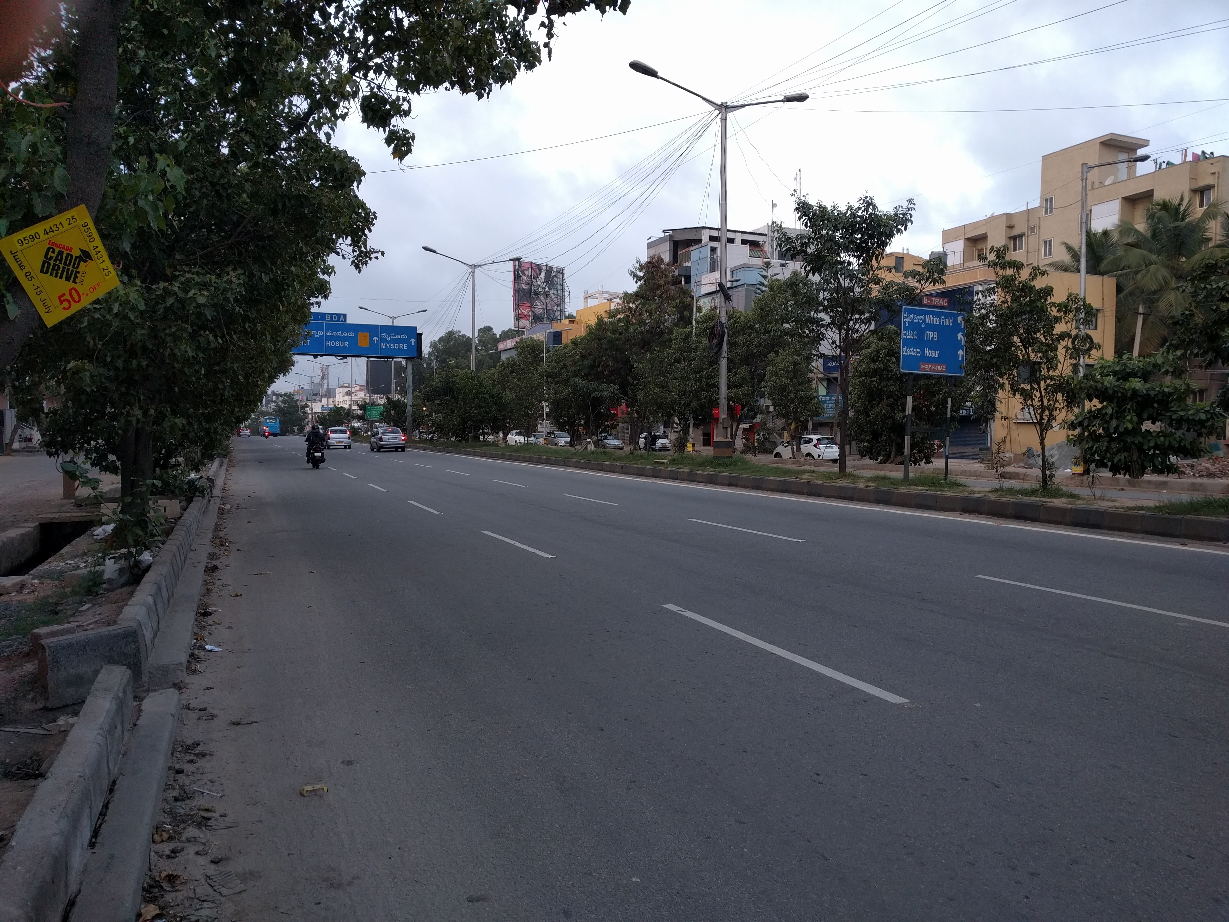 This is how one of the arterial roads look at 6:00 in the morning. In two hours the road would be crowded (and possibly jammed).