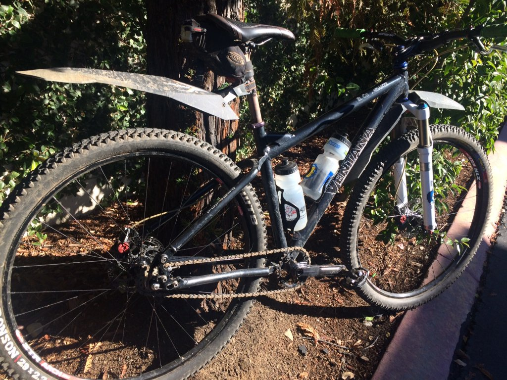 These are plastic, cantilever, clip-on fenders used on MTBs for temporary protection. If you are riding trails, you wouldn't mind a few splashes on your back. Image: patski@MTBR
