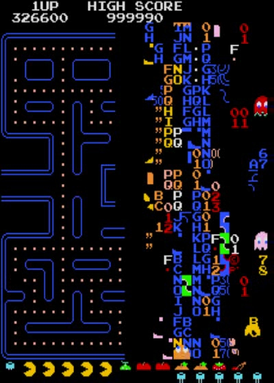 This is how the original Pac-Man ends - with an integer overflow.